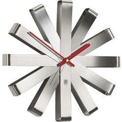 Zegar ścienny Ribbon stalowy, 118070-590