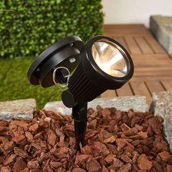Lampenwelt.com Solarny reflektor z grotem ziemnym eddie z led