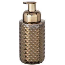 Dekoracyjny dozownik do spienionego mydła, z pompką, pojemnik na mydło,kolor miedziany, ceramiczny, spienione mydło