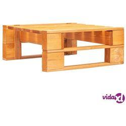 vidaXL Stołek ogrodowy wykonany z palet, drewno FSC, miodowy brąz (8719883692883)