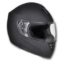 Kask na motor, zamknięty, rozmiar M, czarny - produkt z kategorii- kaski motocyklowe