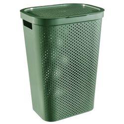 Kosz na bieliznę Curver Infinity Recycled 60 l zielony (3253924754185)