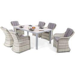Home & garden Meble ogrodowe aluminiowe capri 185 cm silver / light grey dallas light grey / grey 6+1 (5902425328583)