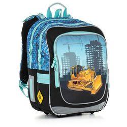 Plecak szkolny  chi 877 d - blue, marki Topgal
