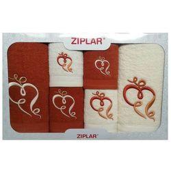 Ziplar Komplet ręczników 6 szt. rudy/ekri