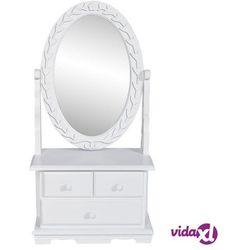 Vidaxl toaletka z mdf z obrotowym, owalnym lustrem (8718475830542)