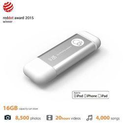 Integral iKlips - Aluminiowy pendrive 16 GB USB 3.0 ze złączem Lightning MFi (srebrny) (pendrive)