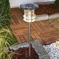 Lampenwelt.com Sumaya - lampa solarna led ze stali szlachetnej (4251096542356)
