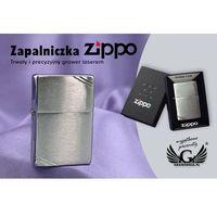 Zapalniczka  vintage brushed chrome with slashes marki Zippo