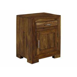 Szafka nocna copelia —1 para drzwiczek i 1 szuflada — drewno sheesham marki Vente-unique