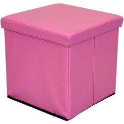 Stilista ® Różowa składana pufa cube siedzisko kufer fotel - różowy (40040297)