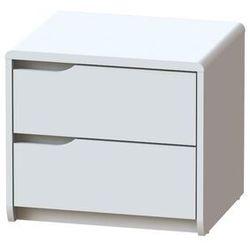 Vente-unique.pl Szafka nocna lucile ii – 2 szuflady – mdf – kolor biały