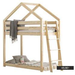 Selsey łóżko piętrowe dalidda domek z drabinką z boku