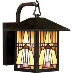 Quoizel Zewnętrzna lampa ścienna inglenook qz/inglenook2/s elstead witrażowa oprawa ogrodowa outdoor ip44 multikolor (5024005344117)