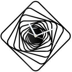 Zegar z pleksi na ścianę Kwadratowe spirale z białymi wskazówkami