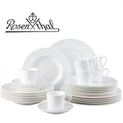 Rosenthal jade serwis obiadowo - kawowy 30el - biały, zestaw, porcelana premium fine bone