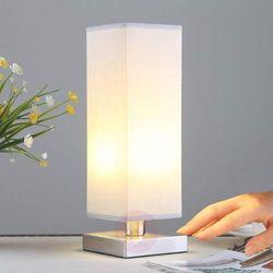 Lampenwelt.com Julina - materiałowa lampka nocna, szara (4251096516784)