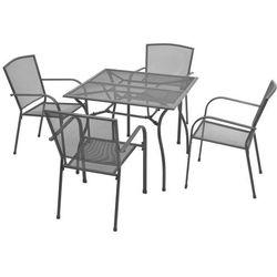 vidaXL Zestaw mebli ogrodowych, 5-częściowy, stalowa siatka