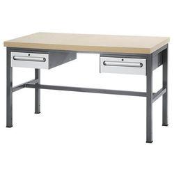 Stół warsztatowy z płytą mdf, 2 szuflady, wys. 150 mm, wys. x szer. x gł. 840x15 marki Unbekannt
