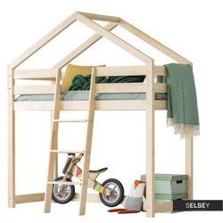łóżko dalidda domek z antresolą z drabinką z przodu marki Selsey