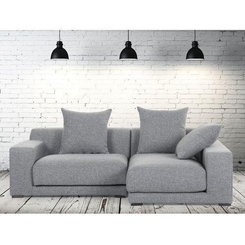 Sofa narozna L - tapicerowana - perlowoszara - CLOUD, Beliani z Beliani