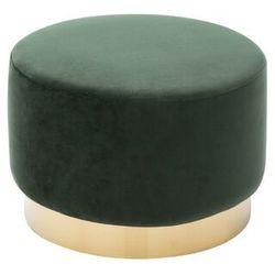 Welurowy puf CLORIA - kolor zielony