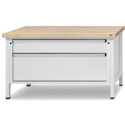 Stół warsztatowy z szufladami XL/XXL, szer. 1500 mm, 2 szuflady, blat z litego b