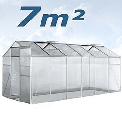 Szklarnia Ogrodowa Aluminiowa 7m² z kategorii Szklarnie
