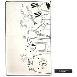 SELSEY Dywan do pokoju dziecięcego Dinkley Be Happy 100x160 cm
