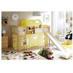 Ticaa łóżko ze zjeżdżalnią ekki country sosna naturalna/żółty-biały marki Ticaa kindermöbel