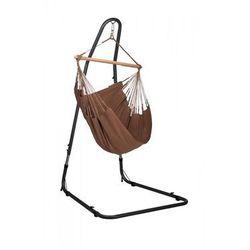 Zestaw hamakowy: fotel hamakowy Modesta ze stojakiem Mediterraneo, Brązowy MOC14MEA12