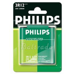 Bateria cynkowo-węglowa  longlife 3r12 - płaska (blister) wyprodukowany przez Philips