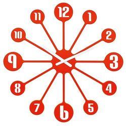 Zegar ścienny PINBALL - kolor mandarynkowy, KOZIOL (4002942324202)