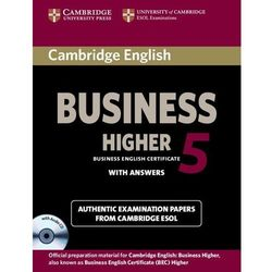 Cambridge English Business 5 Higher Self-Study Pack (Students Book with answers with Audio Cd), książka z ka