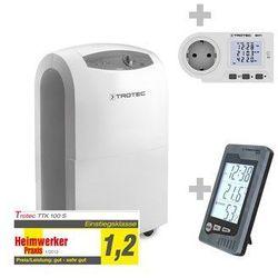 Trotec Osuszacz powietrza ttk 100 s + termohigrometr bz05 + miernik kosztów zużycia energii bx11 (4052138006115)
