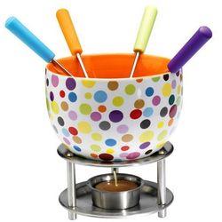 Mastrad - Czekoladowe fondue, zestaw - kolorowe kropki - produkt z kategorii- Fondue