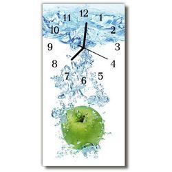 Zegar Szklany Pionowy Kuchnia Woda jabłko kolorowy, kolor wielokolorowy