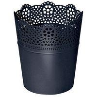 Doniczka Prosperplast Lace fi 18 5 cm antracyt (5905197096407)