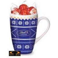 Lindt Zestaw  lindor milk nostalgic cup niebieski 125g