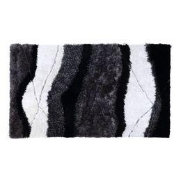 Dywan shaggy ecume - poliestrowy, tuftowany ręcznie - biało-czarny - 140 * 200 cm marki Vente-unique