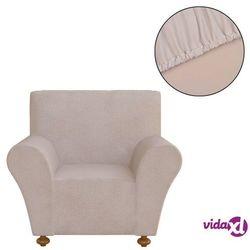 elastyczny pokrowiec na sofę, z dżerseju, beżowy marki Vidaxl