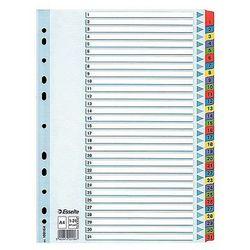 Przekładki mylar A4 1-31 Esselte białe 100164