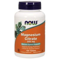 Cytrynian magnezu 200mg - 100 tabletek Nowfoods