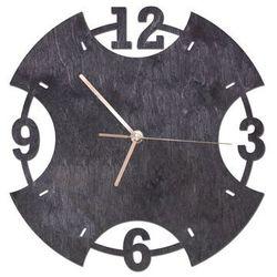 Congee.pl Drewniany zegar na ścianę pierścień ze złotymi wskazówkami
