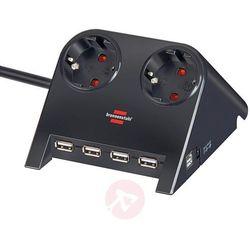 Przedłużacz listwowy Desktop Power z USB czarny (4007123603831)