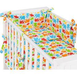 MAMO-TATO 3-el pościel do łóżeczka 60x120 rozbieralna Słonie kolorowe