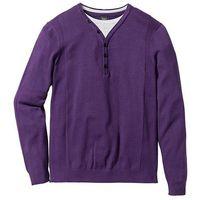 Sweter 2 w 1 regular fit  jagodowy, Bonprix, S-XXL