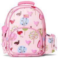 PENNY SCALLAN Duży plecak z kieszeniami - Różowe ptaszki z kategorii tornistry i plecaki