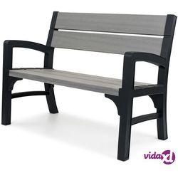 Keter 2-osobowa ławka ogrodowa montero, szara 233309