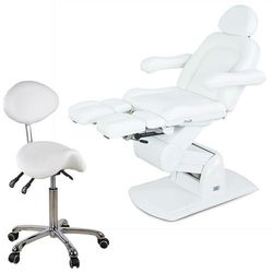 Physa Fotel kosmetyczny  nice do pedicure biały + krzesło, kategoria: urządzenia i akcesoria kosmetyczn